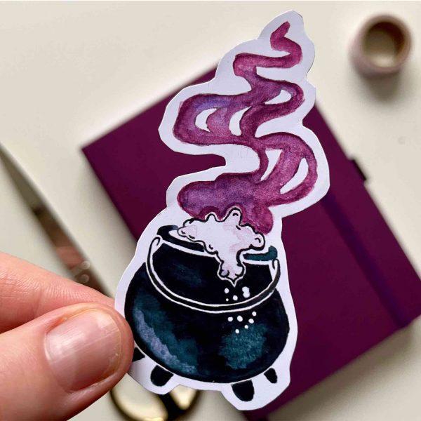 Heksenketel Die Cut Sticker
